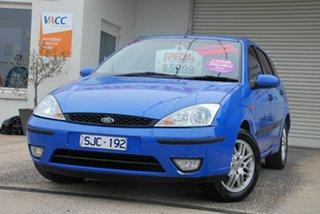 2002 Ford Focus LR LX Blue 5 Speed Manual Hatchback.