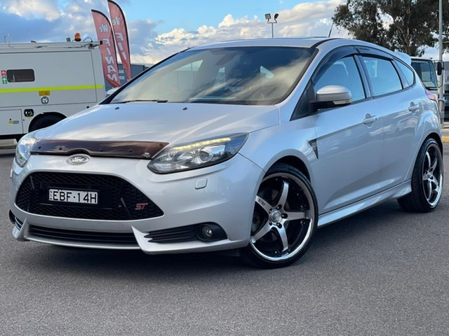 Used Ford Focus LW MK2 ST Goulburn, 2013 Ford Focus LW MK2 ST Silver 6 Speed Manual Hatchback