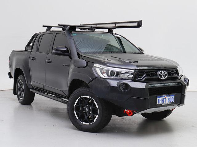 Used Toyota Hilux GUN126R MY19 Rugged X (4x4), 2018 Toyota Hilux GUN126R MY19 Rugged X (4x4) Black 6 Speed Automatic Double Cab Pick Up