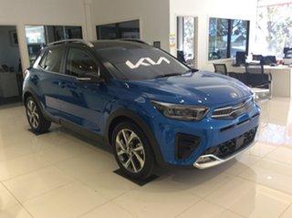 2021 Kia Stonic YB MY21 GT-Line DCT FWD Sporty Blue & Aurora Black 7 Speed.