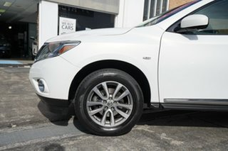 2013 Nissan Pathfinder R52 MY14 ST-L X-tronic 4WD White 1 Speed Constant Variable Wagon.