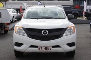 2015 Mazda BT-50 UP0YD1 XT 4x2 White 6 Speed Manual Cab Chassis.