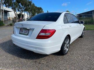 2013 Mercedes-Benz C200 W204 MY12 Elegance BE White 7 Speed Automatic G-Tronic Sedan.