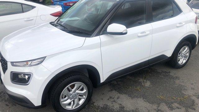 Used Hyundai Venue QX MY20 Active Moorooka, 2019 Hyundai Venue QX MY20 Active Ceramic White 6 Speed Manual Wagon