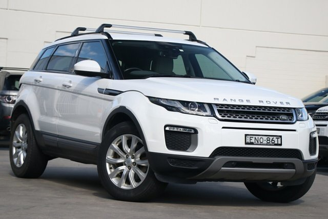 Pre-Owned Land Rover Range Rover Evoque L538 MY17 TD4 150 SE Brookvale, 2016 Land Rover Range Rover Evoque L538 MY17 TD4 150 SE White 9 Speed Sports Automatic Wagon