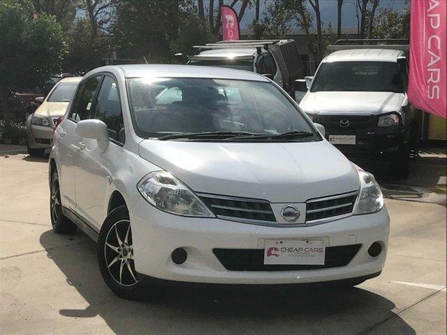 Used Nissan Tiida C11 S3 ST Toowoomba, 2011 Nissan Tiida C11 S3 ST White 4 Speed Automatic Hatchback