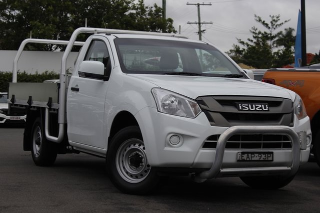 Used Isuzu D-MAX MY17 SX 4x2 Mount Gravatt, 2018 Isuzu D-MAX MY17 SX 4x2 White 6 Speed Manual Cab Chassis