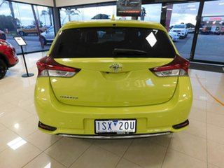 2015 Toyota Corolla ZRE182R SX S-CVT Yellow 7 Speed Constant Variable Hatchback