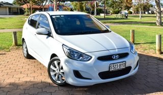 2018 Hyundai Accent RB6 MY19 Sport White 6 Speed Sports Automatic Hatchback.
