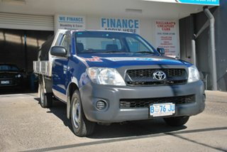 2010 Toyota Hilux TGN16R MY11 Upgrade Workmate Blue 5 Speed Manual Cab Chassis.