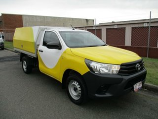 2015 Toyota Hilux TGN121R Workmate 4x2 White 5 Speed Manual Cab Chassis.