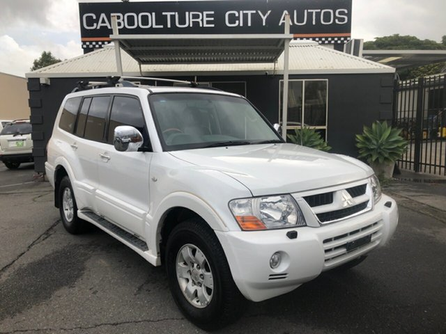 Used Mitsubishi Pajero NP Exceed LWB (4x4) Morayfield, 2003 Mitsubishi Pajero NP Exceed LWB (4x4) White 5 Speed Auto Sports Mode Wagon