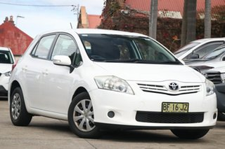 2010 Toyota Corolla ZRE152R MY10 Ascent Glacier White 4 Speed Automatic Hatchback.