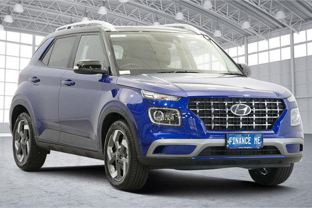 Used Hyundai Venue QX MY20 Elite Victoria Park, 2020 Hyundai Venue QX MY20 Elite Intense Blue 6 Speed Automatic Wagon