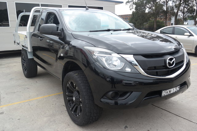 Used Mazda BT-50 UR0YD1 XT 4x2 Maryville, 2016 Mazda BT-50 UR0YD1 XT 4x2 Black 6 Speed Manual Cab Chassis