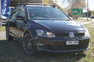 2014 Volkswagen Golf VII MY14 103TSI DSG Highline Black 7 Speed Sports Automatic Dual Clutch.