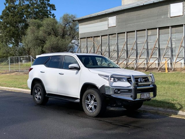 Pre-Owned Toyota Fortuner GUN156R GXL Oakey, 2017 Toyota Fortuner GUN156R GXL Glacier White 6 Speed Automatic Wagon