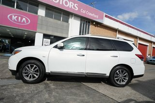 2013 Nissan Pathfinder R52 MY14 ST-L X-tronic 4WD White 1 Speed Constant Variable Wagon