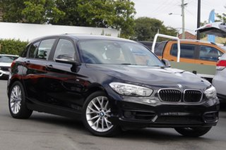 2017 BMW 1 Series F20 LCI 118i Steptronic Sport Line Black 8 Speed Sports Automatic Hatchback.