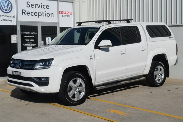 Used Volkswagen Amarok 2H MY19 TDI550 4MOTION Perm Highline Rutherford, 2019 Volkswagen Amarok 2H MY19 TDI550 4MOTION Perm Highline White 8 Speed Automatic Utility