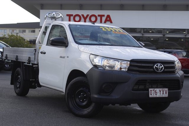 Pre-Owned Toyota Hilux TGN121R Workmate 4x2 Upper Mount Gravatt, 2018 Toyota Hilux TGN121R Workmate 4x2 White 6 Speed Sports Automatic Cab Chassis