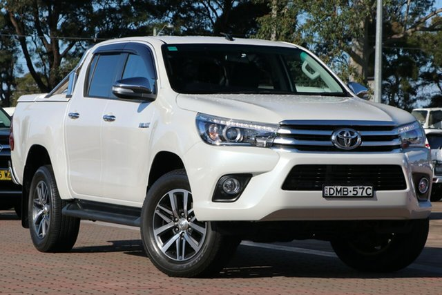 Pre-Owned Toyota Hilux GUN126R SR5 Double Cab Warwick Farm, 2017 Toyota Hilux GUN126R SR5 Double Cab White 6 Speed Sports Automatic Utility