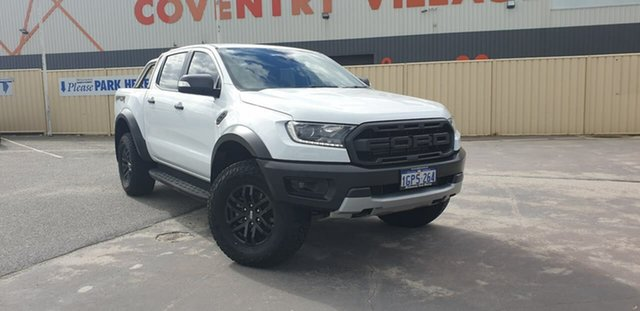 Used Ford Ranger PX MkIII 2019.00MY Raptor Morley, 2018 Ford Ranger PX MkIII 2019.00MY Raptor Frozen White 10 Speed Sports Automatic Utility