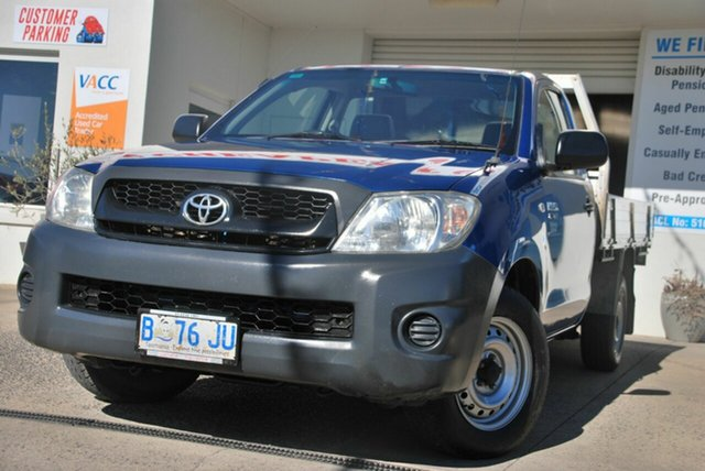 Used Toyota Hilux TGN16R MY11 Upgrade Workmate Wendouree, 2010 Toyota Hilux TGN16R MY11 Upgrade Workmate Blue 5 Speed Manual Cab Chassis