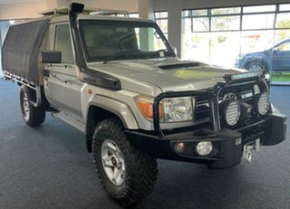2011 Toyota Landcruiser VDJ79R MY10 GXL Silver 5 Speed Manual Cab Chassis.