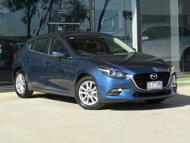 Used Mazda 3 BN5478 Maxx SKYACTIV-Drive Ravenhall, 2017 Mazda 3 BN5478 Maxx SKYACTIV-Drive Blue 6 Speed Sports Automatic Hatchback