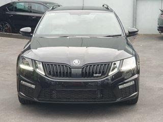 2019 Skoda Octavia NE MY19 RS DSG 180TSI Black 7 Speed Sports Automatic Dual Clutch Wagon.