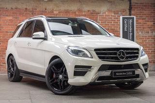 2013 Mercedes-Benz M-Class W166 ML350 BlueTEC 7G-Tronic + White 7 Speed Sports Automatic Wagon.