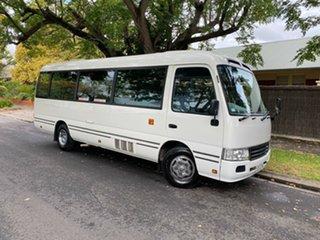 2010 Toyota Coaster White Automatic Bus.