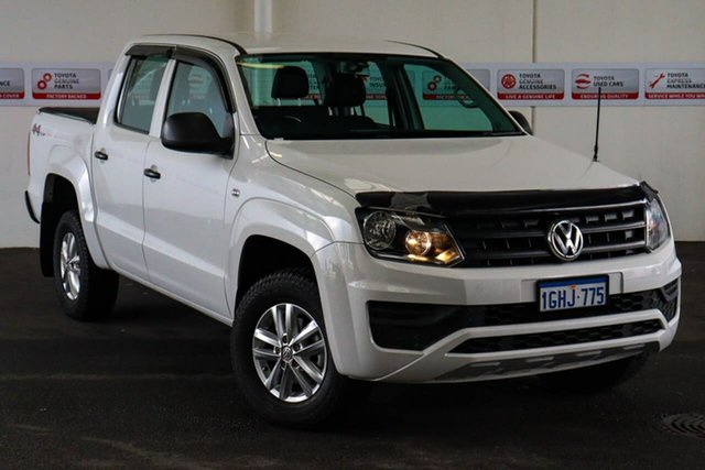 Pre-Owned Volkswagen Amarok 2H MY16 TDI420 Core Edition (4x4) Rockingham, 2016 Volkswagen Amarok 2H MY16 TDI420 Core Edition (4x4) White 8 Speed Automatic Dual Cab Utility