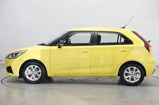 2020 MG MG3 SZP1 MY20 Core Tudor Yellow 4 Speed Automatic Hatchback.