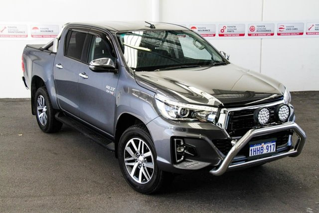 Pre-Owned Toyota Hilux GUN126R SR5 Double Cab Rockingham, 2019 Toyota Hilux GUN126R SR5 Double Cab Graphite 6 Speed Sports Automatic Utility