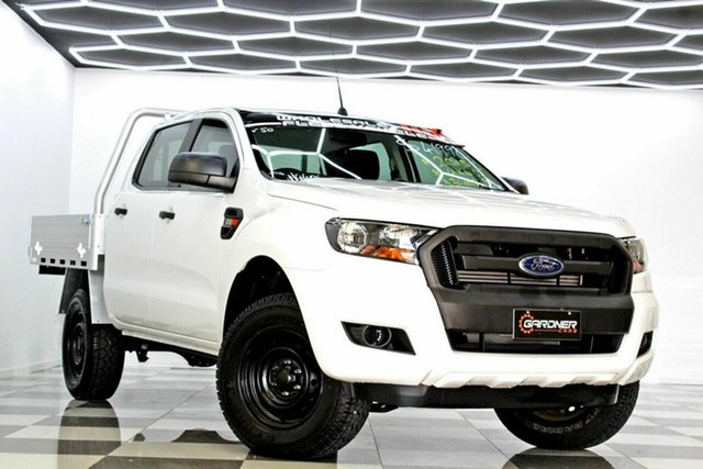 Used Ford Ranger PX MkII XL 2.2 (4x4) Burleigh Heads, 2015 Ford Ranger PX MkII XL 2.2 (4x4) White 6 Speed Automatic Crew Cab Chassis