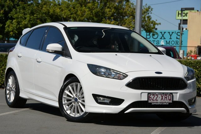 Used Ford Focus LZ Sport Aspley, 2017 Ford Focus LZ Sport White 6 Speed Automatic Hatchback