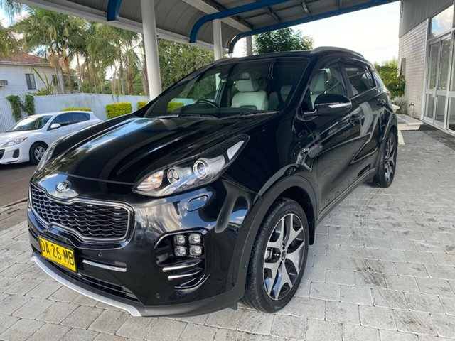 Used Kia Sportage GT-Line Taree, 2016 Kia Sportage GT-Line Black Sports Automatic Wagon