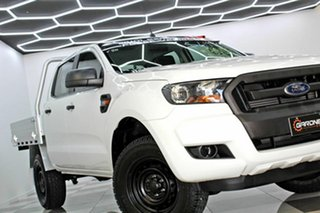 2015 Ford Ranger PX MkII XL 2.2 (4x4) White 6 Speed Automatic Crew Cab Chassis.