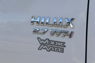 2009 Toyota Hilux TGN16R MY10 Workmate 4x2 White 5 Speed Manual Utility