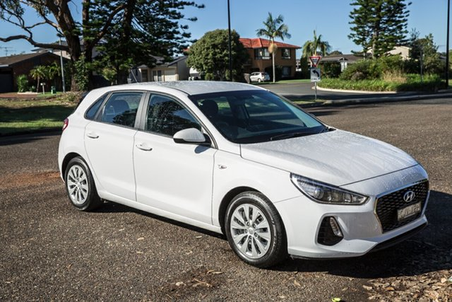 Used Hyundai i30 PD MY19 Go Port Macquarie, 2019 Hyundai i30 PD MY19 Go White 6 Speed Sports Automatic Hatchback