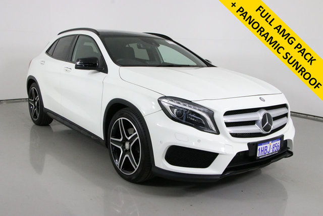Used Mercedes-Benz GLA250 4Matic X156 MY16 Bentley, 2015 Mercedes-Benz GLA250 4Matic X156 MY16 White 7 Speed Auto Dual Clutch Wagon