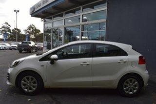 2015 Kia Rio UB MY15 S White 6 Speed Manual Hatchback