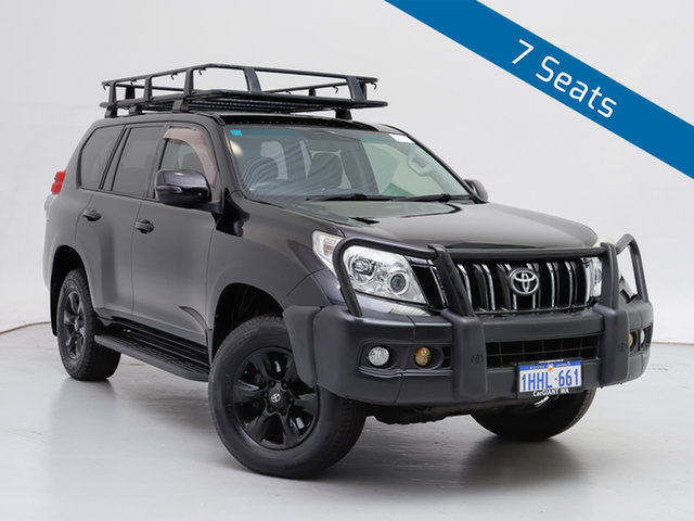 Used Toyota Landcruiser Prado KDJ150R 11 Upgrade GXL (4x4), 2012 Toyota Landcruiser Prado KDJ150R 11 Upgrade GXL (4x4) Black 5 Speed Sequential Auto Wagon