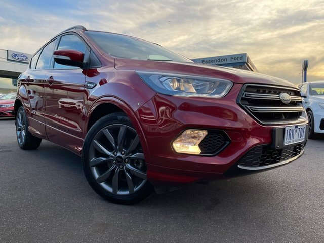 Used Ford Escape ZG 2019.75MY ST-Line Essendon Fields, 2019 Ford Escape ZG 2019.75MY ST-Line Red 6 Speed Sports Automatic SUV