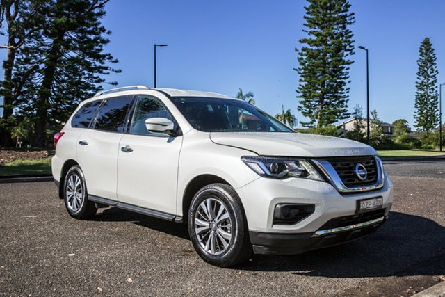 Used Nissan Pathfinder R52 Series II MY17 ST X-tronic 2WD Port Macquarie, 2018 Nissan Pathfinder R52 Series II MY17 ST X-tronic 2WD White 1 Speed Constant Variable Wagon
