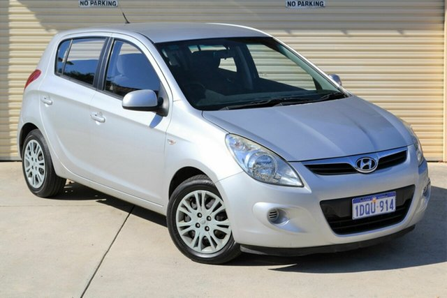 Used Hyundai i20 PB MY11 Active Mount Lawley, 2011 Hyundai i20 PB MY11 Active Silver 4 Speed Automatic Hatchback