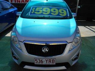 2010 Holden Barina Spark MJ MY11 CDX Silver 5 Speed Manual Hatchback.