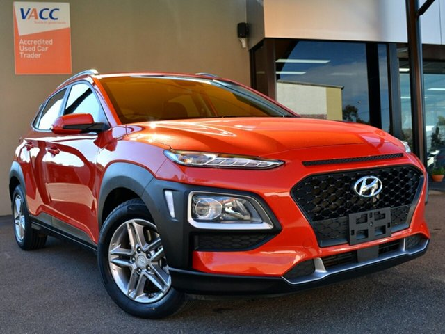 Used Hyundai Kona OS.2 MY19 Active D-CT AWD Fawkner, 2018 Hyundai Kona OS.2 MY19 Active D-CT AWD Orange 7 Speed Sports Automatic Dual Clutch Wagon
